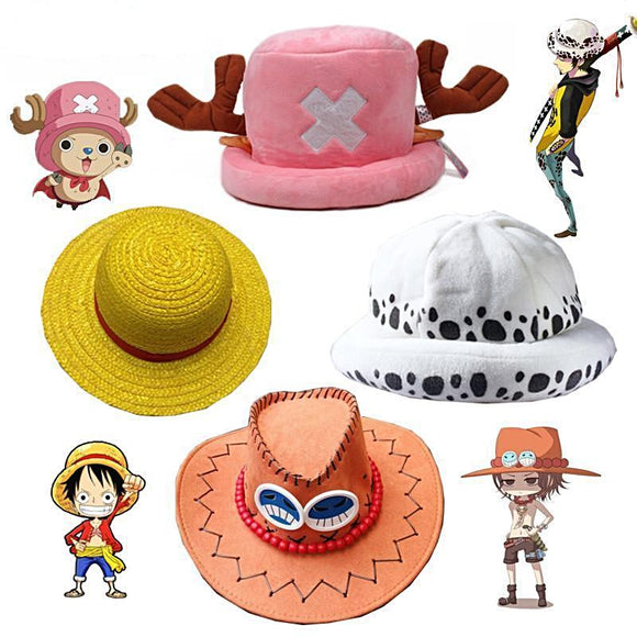 One Piece Luffy/Chopper/Ace/Trafalgar Law Hats - Aniflux