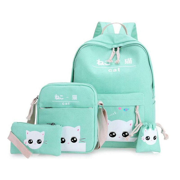 Couginm - 4Pcs Of Set Backpack - Aniflux