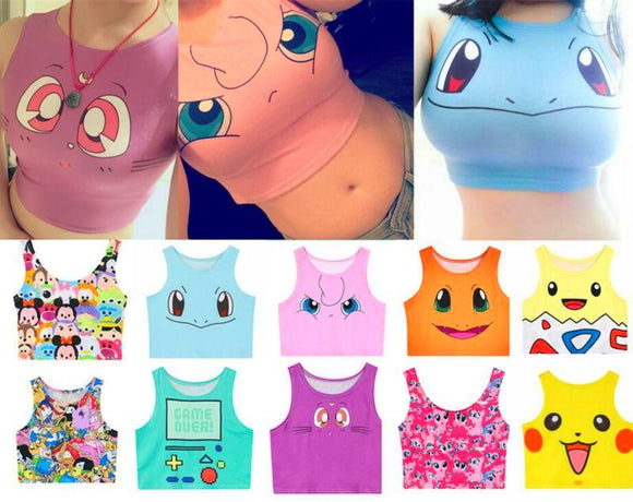 Pokemon Tank Tops - Aniflux