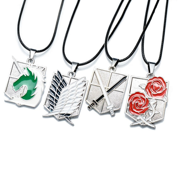 Attack on Titan - 4 Emblems Necklaces - Aniflux