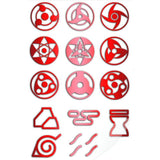 Naruto -  3 Sets of Metal Waterproof Stickers - Aniflux