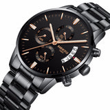 Luxury Brand NIBOSI Men Sport Watch Waterproof Casual Watch Quartz Military Leather Steel Men's Wristwatches Relogio Masculino - Aniflux