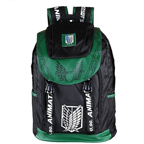 Attack On Titan -  Survey Corps Green Backpack - Aniflux