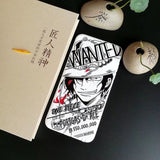 Case for Apple iphone 6 6s plus XS XR XS MAX case One Piece cartoon Sketch Monkey D Luffy soft cover case for iphone 7 plus X - Aniflux