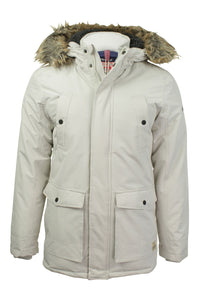 Women's Tokyo Laundry Cream Jacket with Faux Fur collar