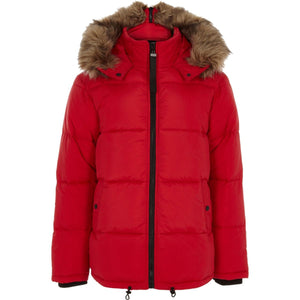 Men's Tokyo Laundry Red Jacket with Faux Fur collar