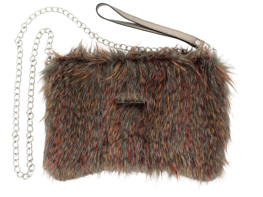 Gioseppo Asta Multicolour Faux Fur Bag