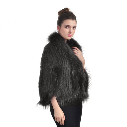 Rabbit and Racoon Fur Cape