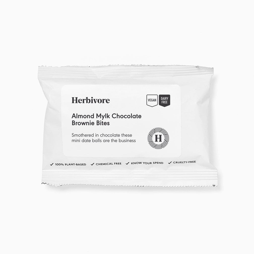 Almond Mylk Chocolate Covered Date Bites - Brownie - Herbivore