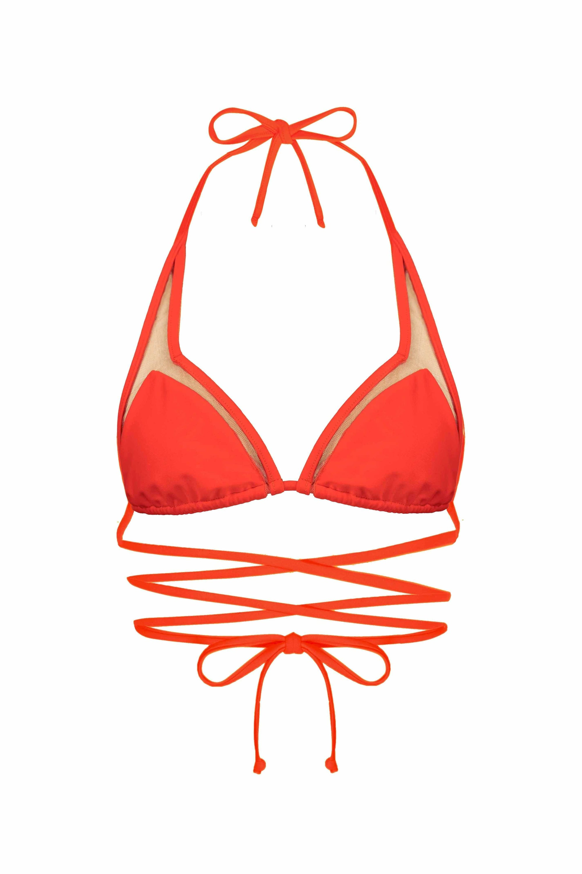 MAI MIA Bikini Top S / FLAME CUT OUT STRING KINI TOP - MATTE