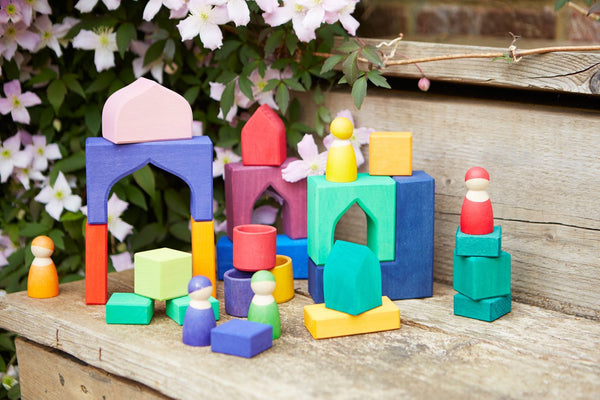 1001 Nights Building Set Large, Grimm's, KEKA TOYS, [HANDMADE], [WOODEN TOYS]