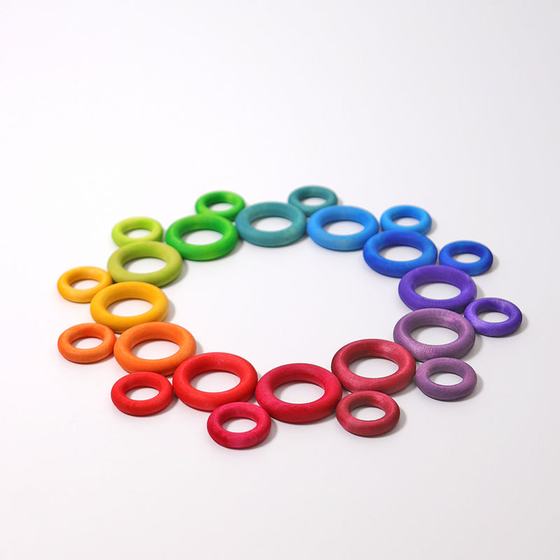 Building Rings Rainbow, Grimm's, KEKA TOYS