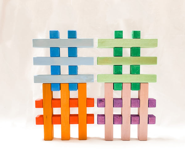 Grid Blocks - Colour, Bauspiel, KEKA TOYS