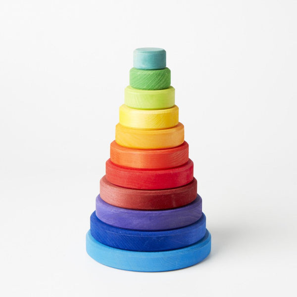 Large Conical Tower, Grimm's, KEKA TOYS, [HANDMADE], [WOODEN TOYS]