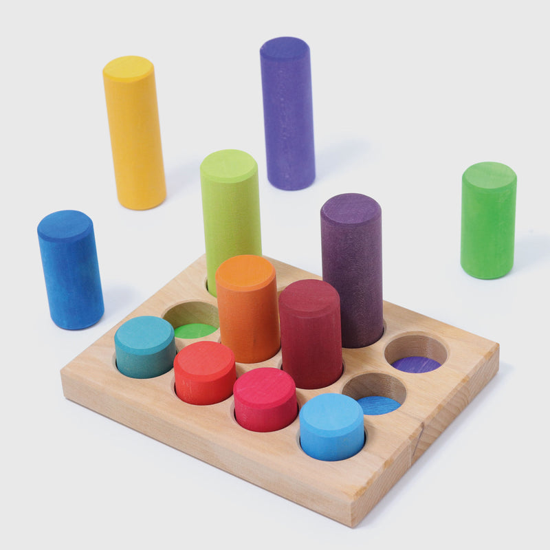 Grimm's - Stacking Game Small Rainbow Rollers - KEKA TOYS