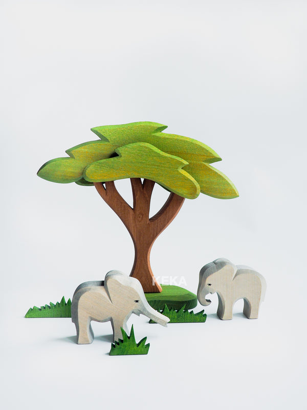 African Tree with Support