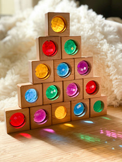 Transparent Coloured Cubes, Bauspiel, KEKA TOYS