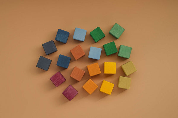 Earth Colours Cubes Set, Raduga Grez, KEKA TOYS