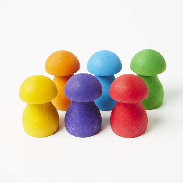 Sorting Game Rainbow Mushrooms, Grimm's, KEKA TOYS