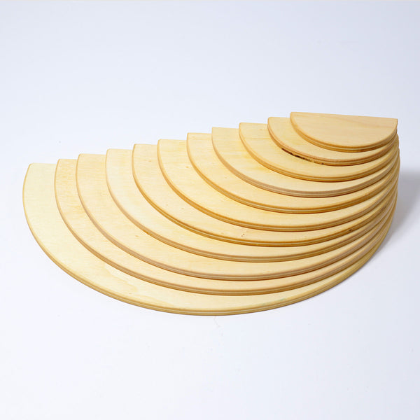 Grimm's - SPECIAL - Natural Semicircles with small dint - KEKA TOYS