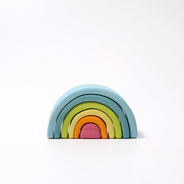 Pastel Small Mini Rainbow Tunnel, Grimm's, KEKA TOYS