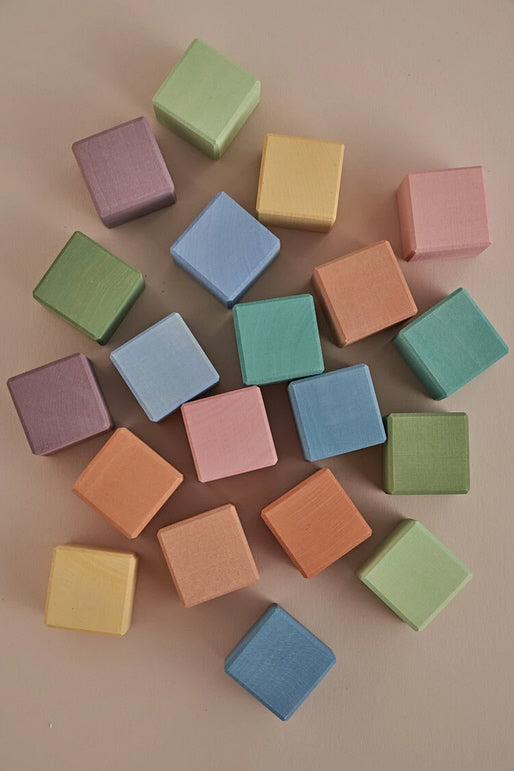 Earth Pastel Cubes Set