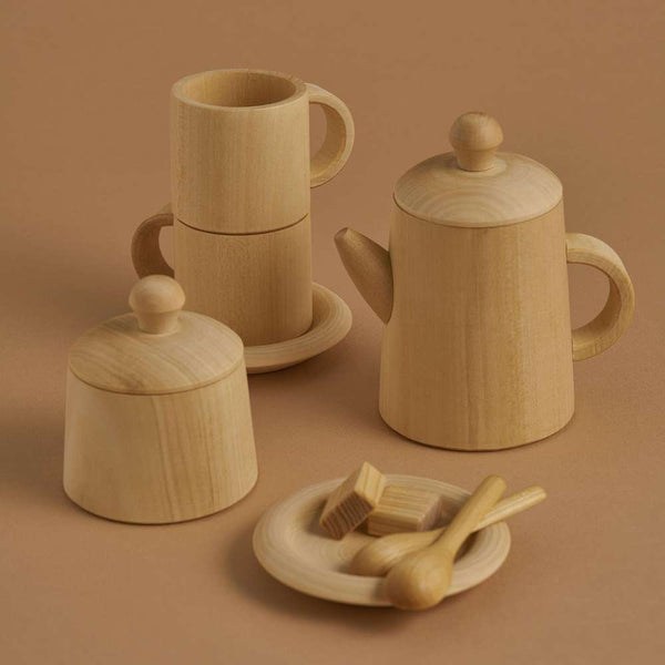 Tea Set Natural, Raduga Grez, KEKA TOYS, [HANDMADE], [WOODEN TOYS]