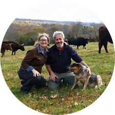 picture of nina and jonathan white of bobolink dairy