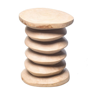 Hand Carved Wooden Stool