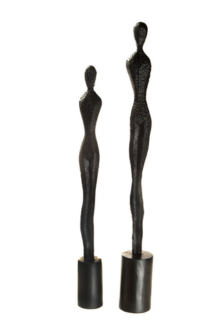 Black Wooden Charred Tall Lady