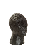 Load image into Gallery viewer, Charred Wooden Black Objet Head