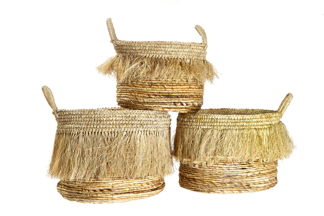 Tassel Basket Set of 3