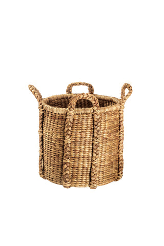 Jumbo Set of 3 Hyacinth Baskets