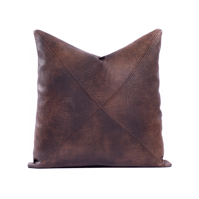 Faux Leather - Brown with Saddle Stitch