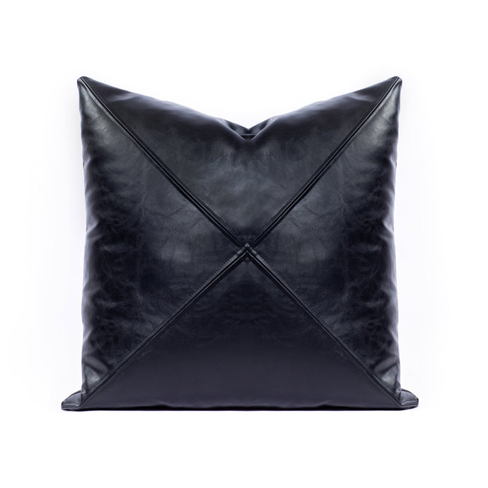 Faux Leather - Black with Saddle Stitch
