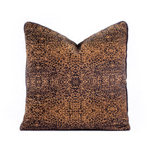 Load image into Gallery viewer, Leopard Print Cushion – Small Print with Piping