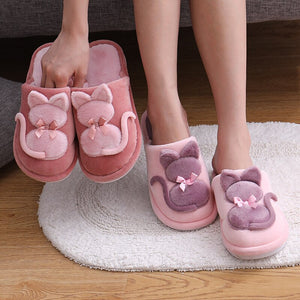 Plush Fluff Cat Slippers