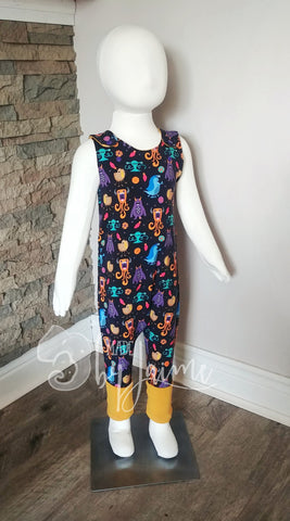 Overall Romper - 1-3 Year Monsters