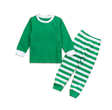 PREORDER - Premade Christmas PJs (Green with Stripes)