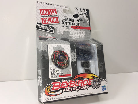 Beyblade Metal Fury L-Drago Destructor LW105LF Single Pack B-145 Attack Type - Extreme Beyblades!