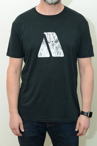 Cabin Brewing Company A-Frame Tee Men's Black