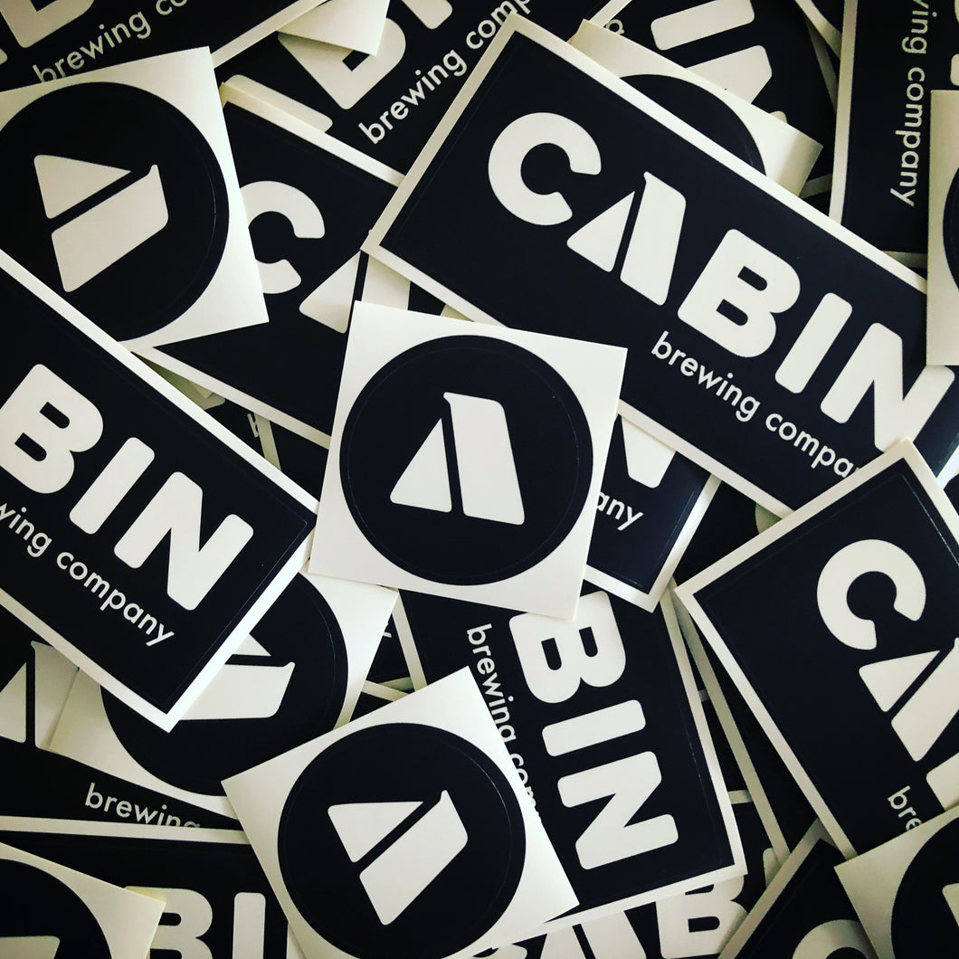 Cabin Rectangle Logo Sticker