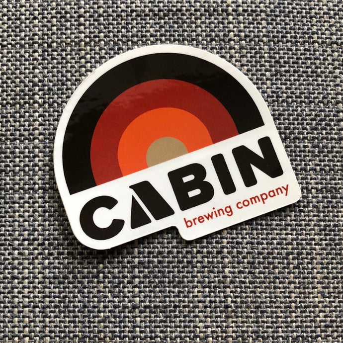 Cabin Retro Rainbow Sticker