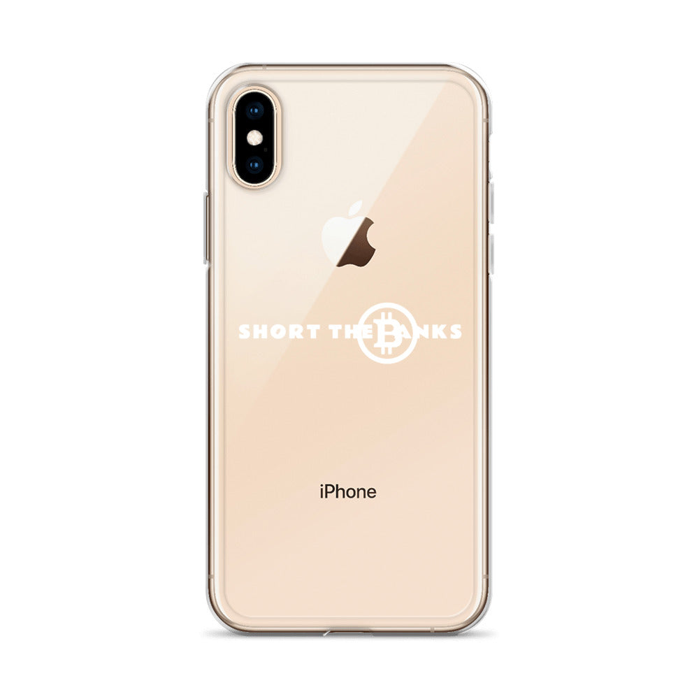 Short The Banks White Logo iPhone Case