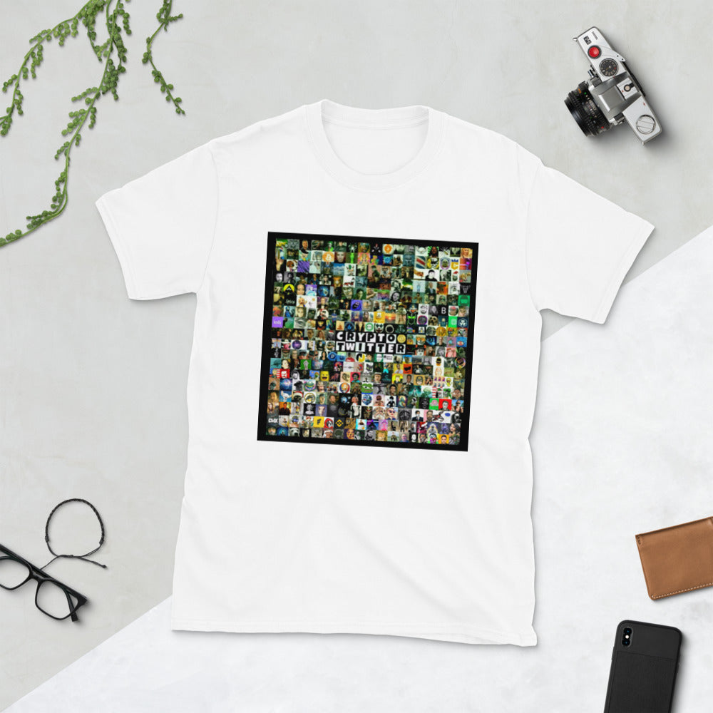 Crypto Twitter Collage 2021 Designed by @__MrAnderson__ Short-Sleeve Unisex T-Shirt