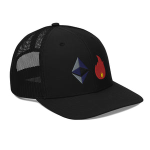 Ethereum On Fire Trucker Cap
