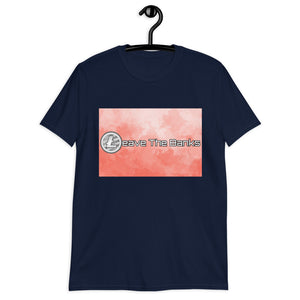 Leave The Banks With Litecoin Fire Short-Sleeve Unisex T-Shirt
