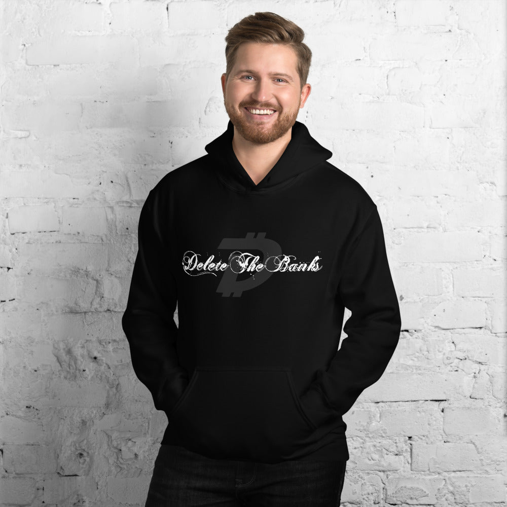 Delete The Banks with DigiByte designed by @0Risk0Reward Unisex Hoodie