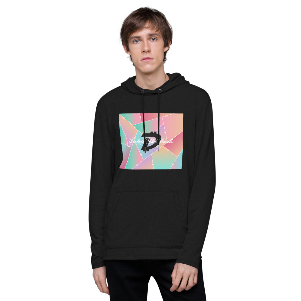 Delete The Banks Glass Unisex Lightweight Hoodie