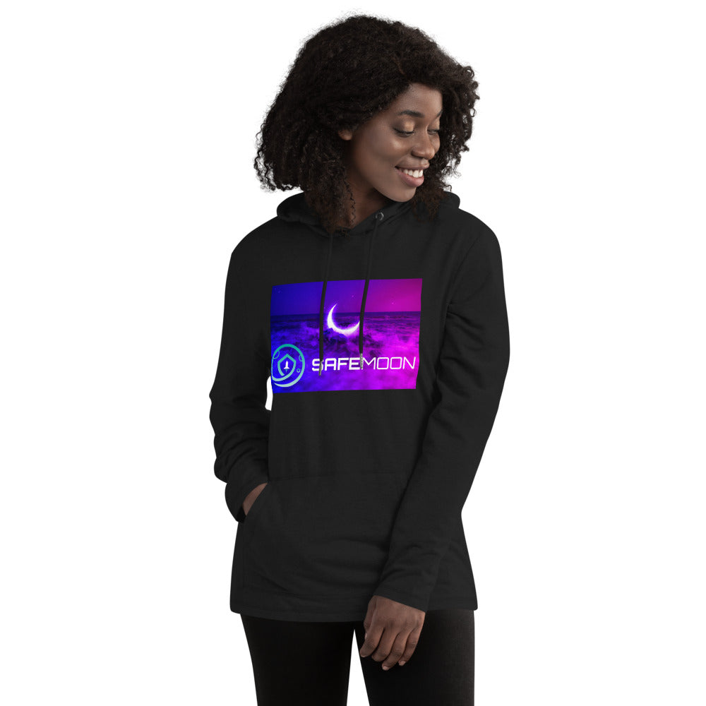 SafeMoon Neon Moon Drop Unisex Lightweight Hoodie